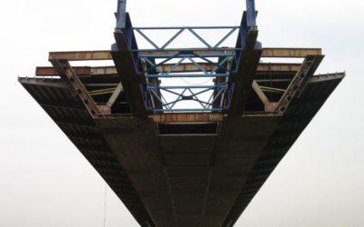 Budowa mostu przezrz. Wisłę wmiejscowości Kamień