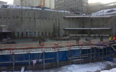Zakończenie robót związanych zwykonanie sprężenia stropów sprężonych nabudowie Warsaw Spire