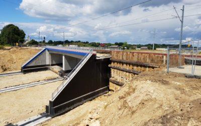 Nasuwanie wiaduktu WK6 wLublinie