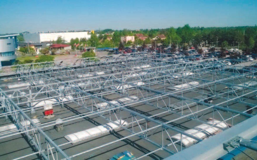Wzmocnienie dachu kompleksu produkcyjno-biurowo-magazynowego