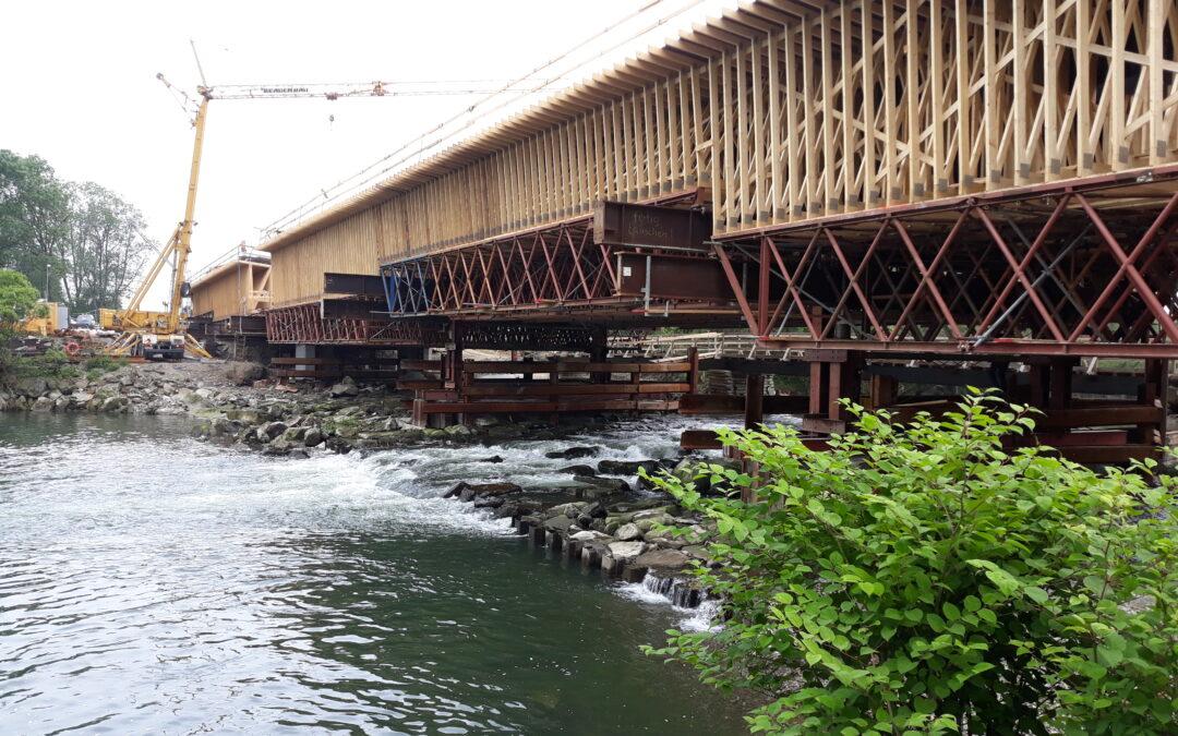 Sprężenie mostu narzece Soła
